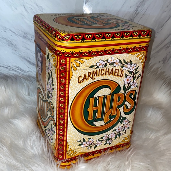 Vintage Carmichael's Chips Tin Canister